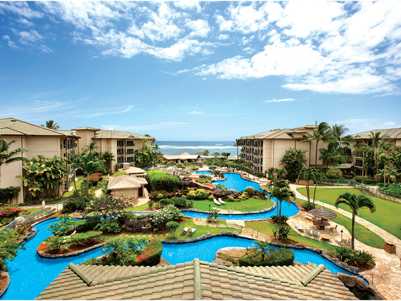 Pool at Waipouli Beach Resort Kauai by Outrigger