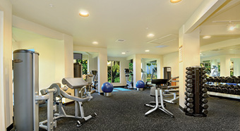 Gym at Waipouli Beach Resort Kauai by Outrigger