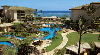 View at Waipouli Beach Resort Kauai by Outrigger