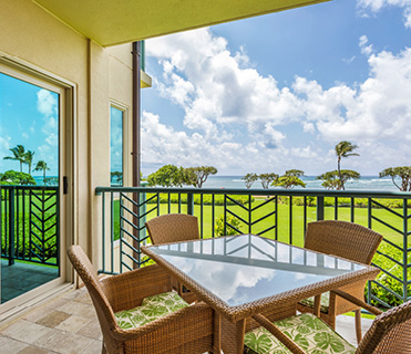 2 Bedroom Oceanfront at Waipouli Beach Resort Kauai by Outrigger