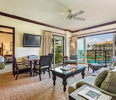 2 Bedroom Ocean View at Waipouli Beach Resort Kauai by Outrigger