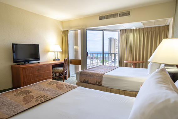 Partial Ocean View Room at Waikiki Malia by Outrigger