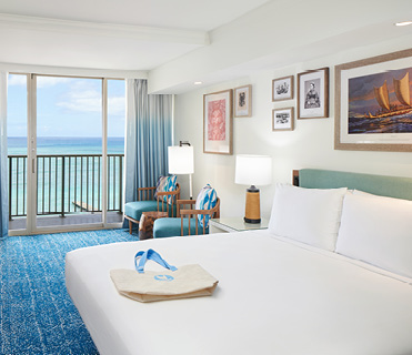 Oceanfront Room at Outrigger Reef Waikiki Beach Resort
