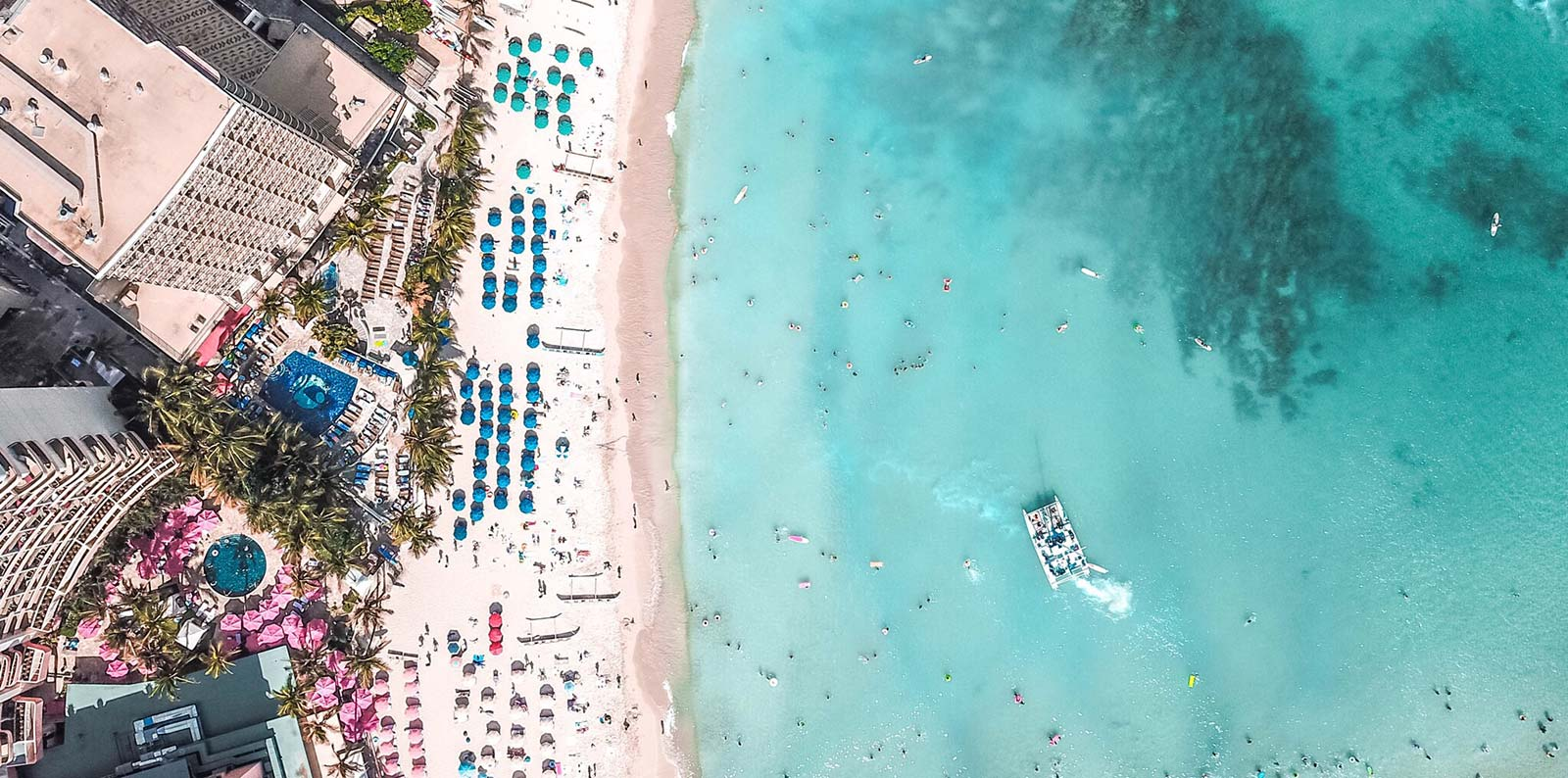 Aerial view of Outrigger Waikiki Beach Resort