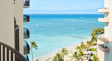 V47 Club Partial Ocean View - Outrigger Waikiki Beach Resort