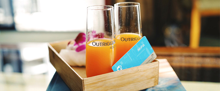 Welcome drinks - Outrigger Hotels & Resorts