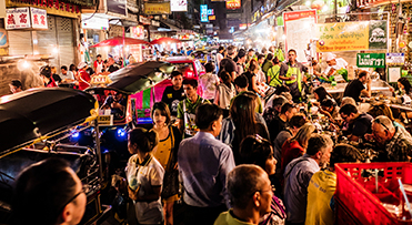 Walking Street at night - Thailand